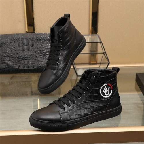 Armani High Tops Shoes For Men #831479
