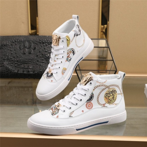 Versace High Tops Shoes For Men #831486