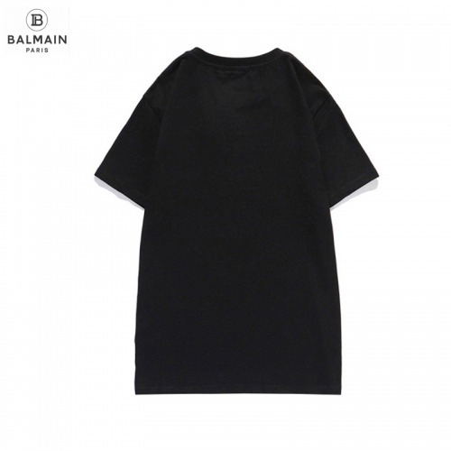 Replica Balmain T-Shirts Short Sleeved O-Neck For Men #831615 $29.00 USD for Wholesale