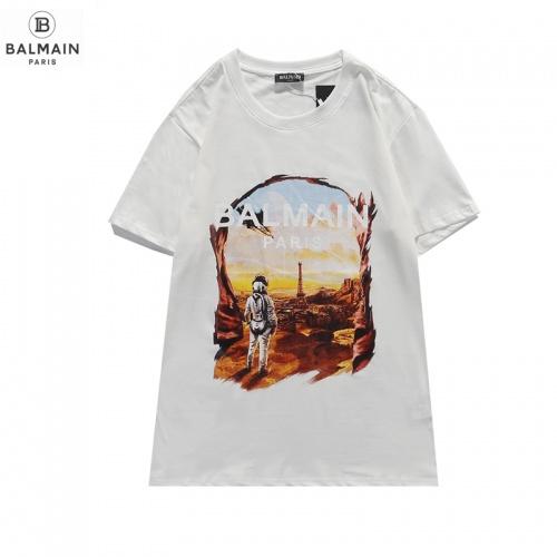 Balmain T-Shirts Short Sleeved O-Neck For Men #831616 $29.00 USD, Wholesale Replica Balmain T-Shirts