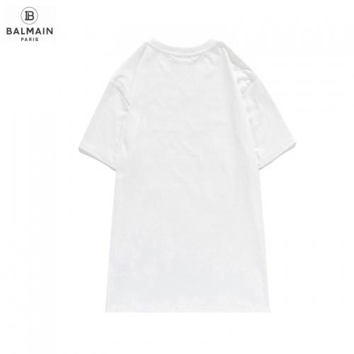 Replica Balmain T-Shirts Short Sleeved O-Neck For Men #831616 $29.00 USD for Wholesale