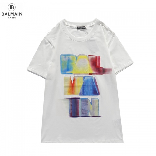 Balmain T-Shirts Short Sleeved O-Neck For Men #831617 $29.00, Wholesale Replica Balmain T-Shirts