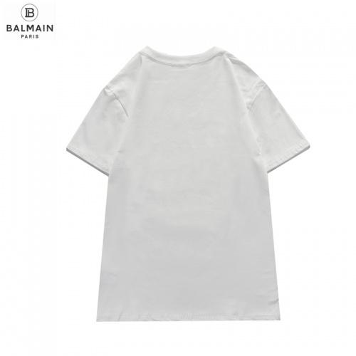 Replica Balmain T-Shirts Short Sleeved O-Neck For Men #831617 $29.00 USD for Wholesale