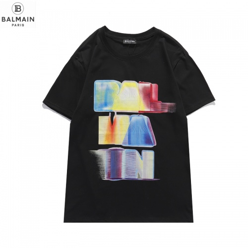 Balmain T-Shirts Short Sleeved O-Neck For Men #831618 $29.00 USD, Wholesale Replica Balmain T-Shirts