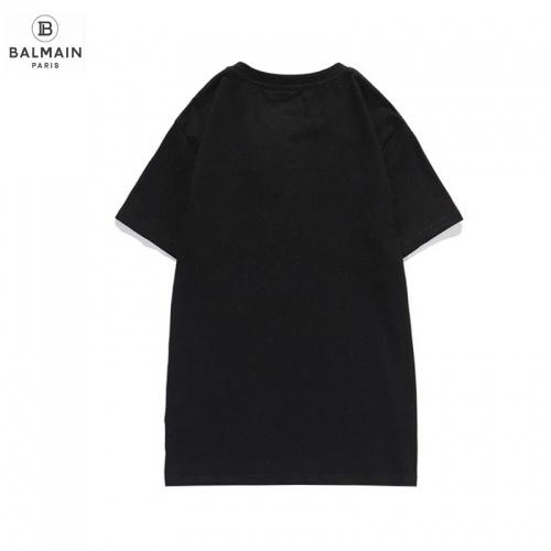 Replica Balmain T-Shirts Short Sleeved O-Neck For Men #831618 $29.00 USD for Wholesale
