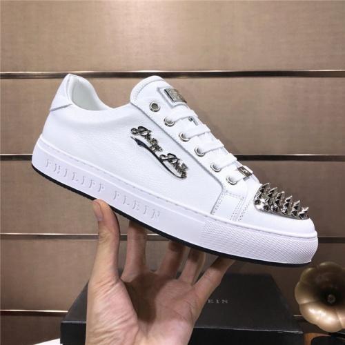 Replica Philipp Plein PP Casual Shoes For Men #831707 $80.00 USD for Wholesale