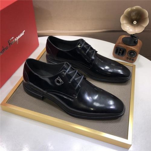 Ferragamo Salvatore FS Leather Shoes For Men #831711
