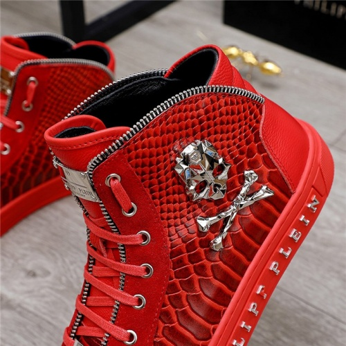 Replica Philipp Plein PP High Tops Shoes For Men #831998 $85.00 USD for Wholesale