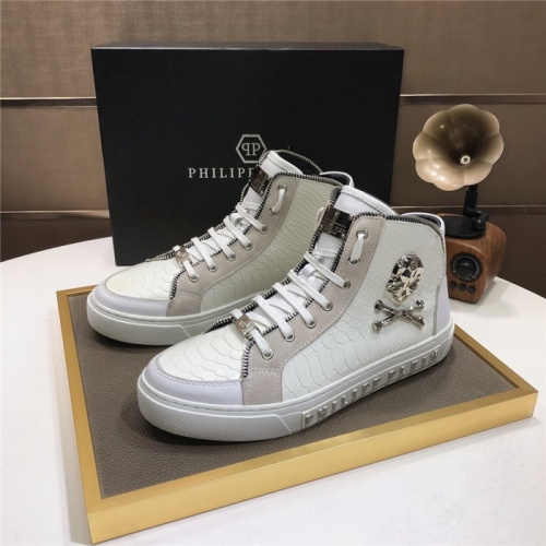 Philipp Plein PP High Tops Shoes For Men #832004