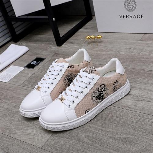 Versace Casual Shoes For Men #832052 $76.00 USD, Wholesale Replica Versace Casual Shoes
