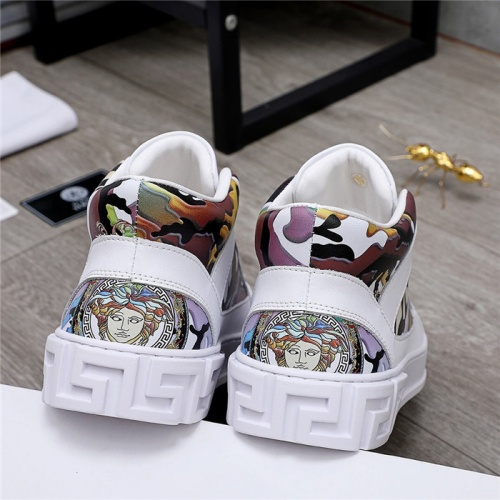 Replica Versace High Tops Shoes For Men #832077 $80.00 USD for Wholesale