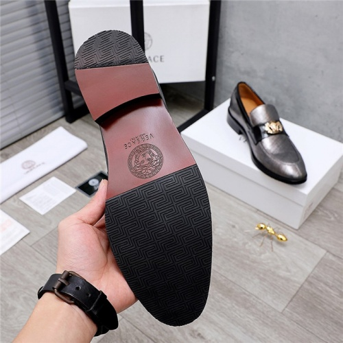 Replica Versace Leather Shoes For Men #832085 $82.00 USD for Wholesale
