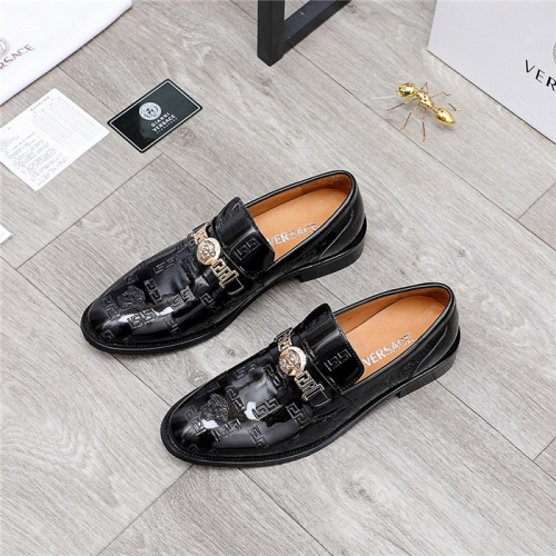 Replica Versace Leather Shoes For Men #832086 $82.00 USD for Wholesale