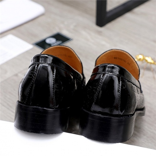 Replica Versace Leather Shoes For Men #832087 $82.00 USD for Wholesale