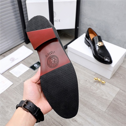 Replica Versace Leather Shoes For Men #832088 $82.00 USD for Wholesale