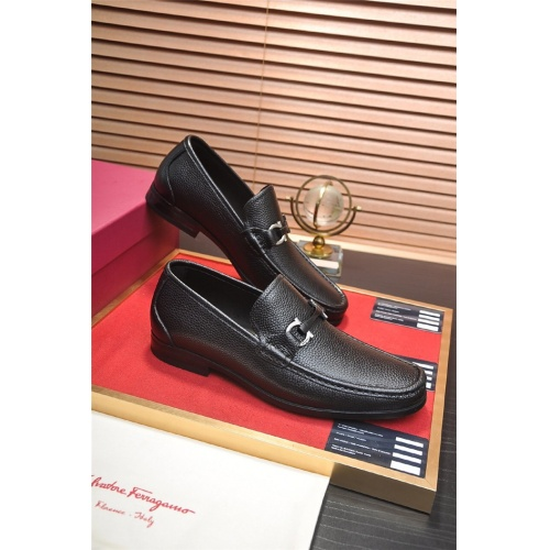 Ferragamo Salvatore FS Leather Shoes For Men #832104