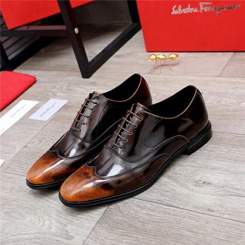 Ferragamo Salvatore FS Leather Shoes For Men #832112
