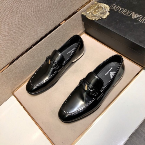 Armani Leather Shoes For Men #832373