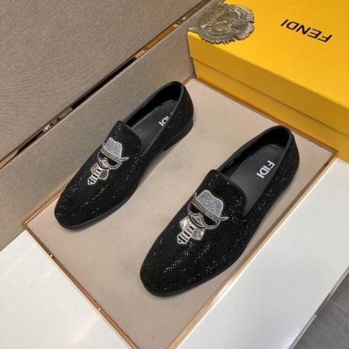 Fendi Leather Shoes For Men #832414
