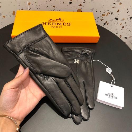 Replica Hermes Gloves For Women #832494 $50.00 USD for Wholesale