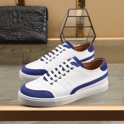 Replica Hermes Casual Shoes For Men #832579 $80.00 USD for Wholesale