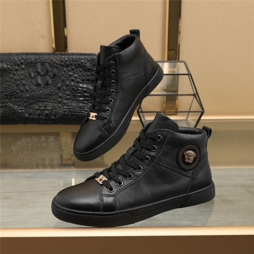 Versace High Tops Shoes For Men #832583 $85.00, Wholesale Replica Versace High Tops Shoes