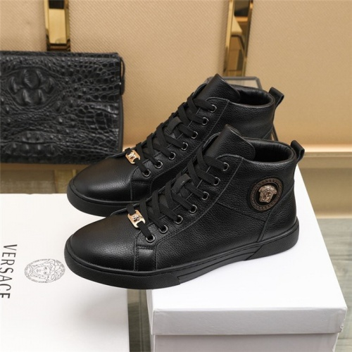 Replica Versace High Tops Shoes For Men #832583 $85.00 USD for Wholesale