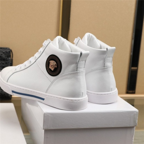 Replica Versace High Tops Shoes For Men #832584 $85.00 USD for Wholesale