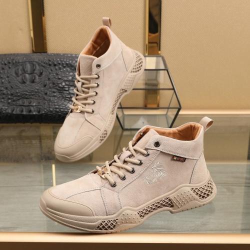 Versace High Tops Shoes For Men #832741 $85.00, Wholesale Replica Versace High Tops Shoes