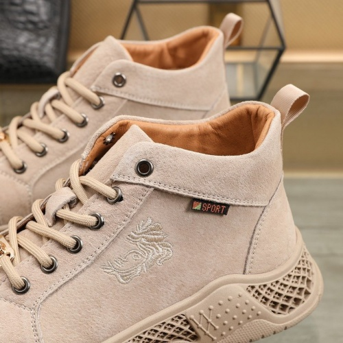 Replica Versace High Tops Shoes For Men #832741 $85.00 USD for Wholesale