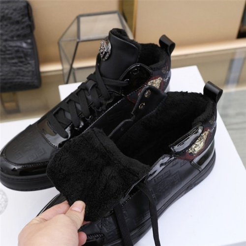 Replica Versace High Tops Shoes For Men #832742 $85.00 USD for Wholesale