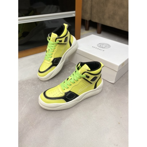 Versace High Tops Shoes For Men #833030