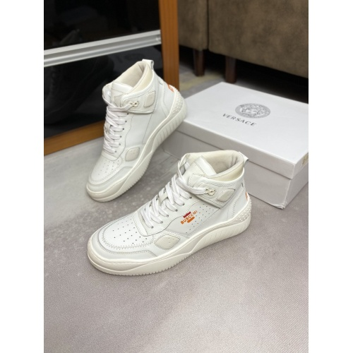 Versace High Tops Shoes For Men #833033
