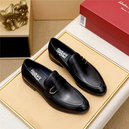 Ferragamo Salvatore FS Leather Shoes For Men #833045