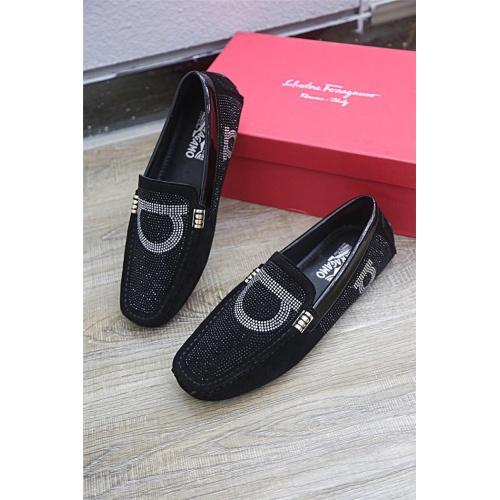 Ferragamo Salvatore FS Leather Shoes For Men #833109