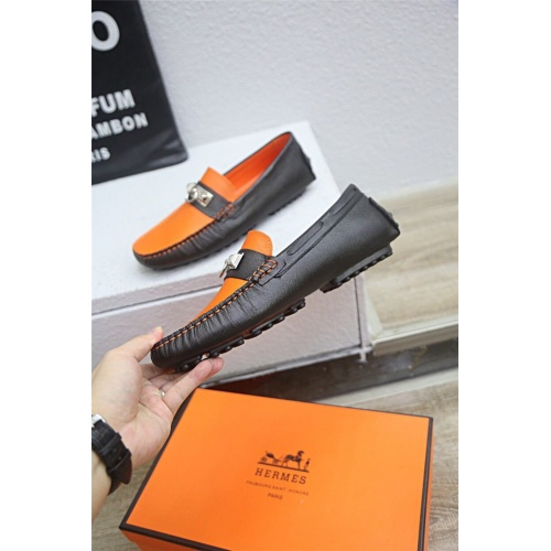 Replica Hermes Casual Shoes For Men #833114 $76.00 USD for Wholesale