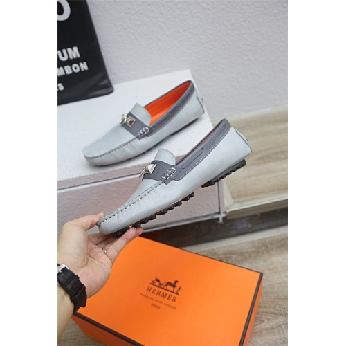 Replica Hermes Casual Shoes For Men #833115 $76.00 USD for Wholesale