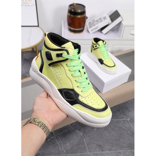 Replica Versace High Tops Shoes For Men #833279 $96.00 USD for Wholesale