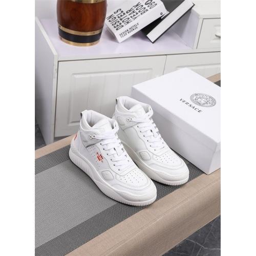 Versace High Tops Shoes For Men #833281 $96.00, Wholesale Replica Versace High Tops Shoes