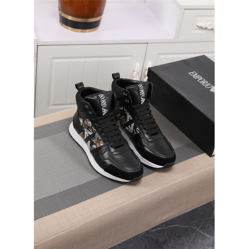 Armani High Tops Shoes For Men #833283