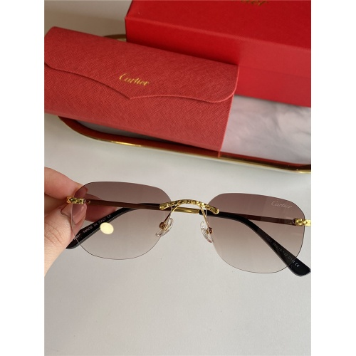 Cartier AAA Quality Sunglasses #833630