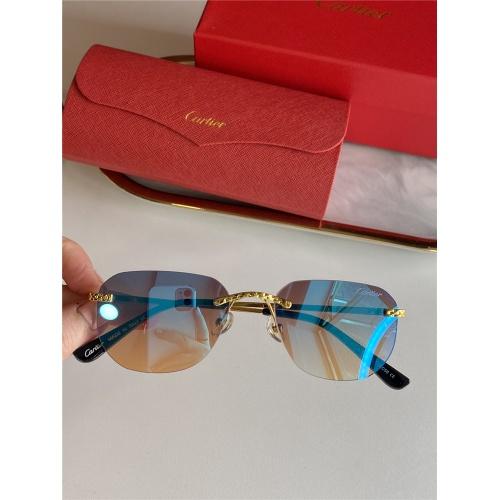 Cartier AAA Quality Sunglasses #833632