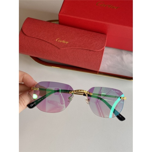 Cartier AAA Quality Sunglasses #833633