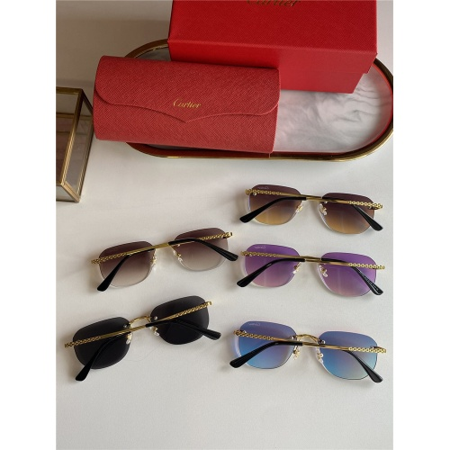 Replica Cartier AAA Quality Sunglasses #833633 $45.00 USD for Wholesale