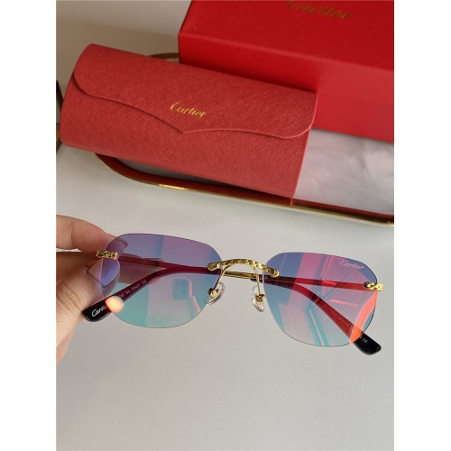 Cartier AAA Quality Sunglasses #833634 $45.00 USD, Wholesale Replica Cartier Super AAA Sunglasses