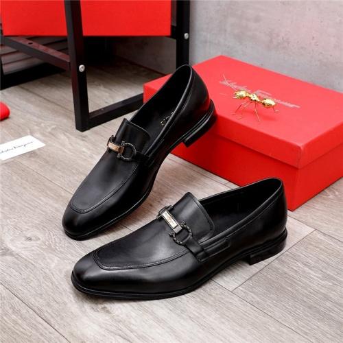 Ferragamo Salvatore FS Leather Shoes For Men #833688
