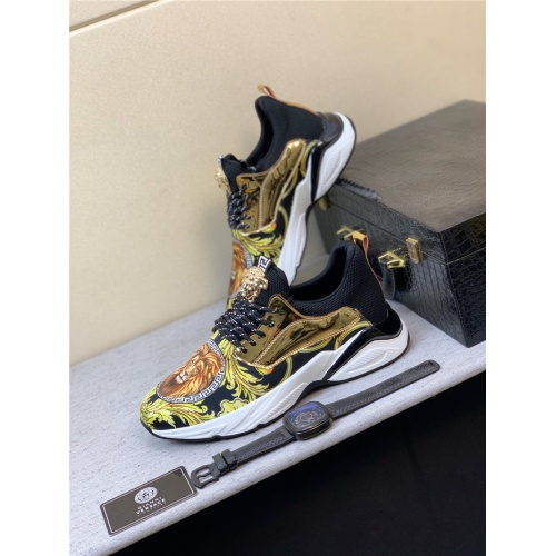 Versace Casual Shoes For Men #833700 $76.00 USD, Wholesale Replica Versace Casual Shoes