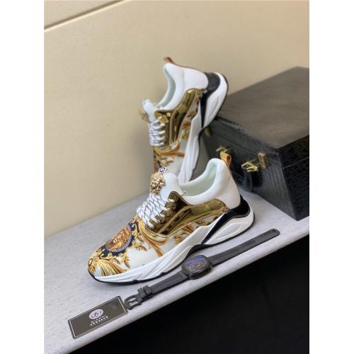 Versace Casual Shoes For Men #833701 $76.00 USD, Wholesale Replica Versace Casual Shoes