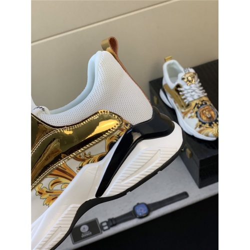 Replica Versace Casual Shoes For Men #833701 $76.00 USD for Wholesale