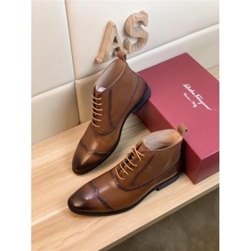 Ferragamo Salvatore Boots For Men #833710